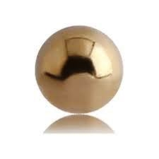18 ct Threaded Solid Ball