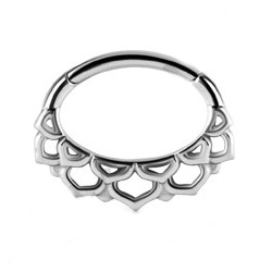 Steel Hinged Blossom Clicker for Septum/Daith