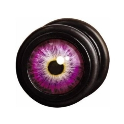 Fake Black Steel Plug 53 - Purple Eye