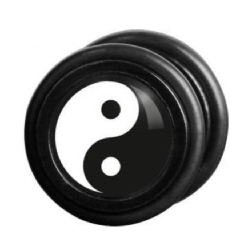Fake Black Steel Plug 81 - Yin Yang