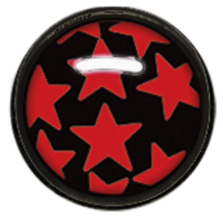 Titan Blackline® Picture Disc 02 - Red Stars on Black