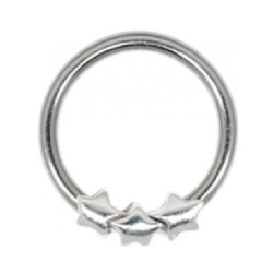 Steel Closure Ring - 03 Silver Stars