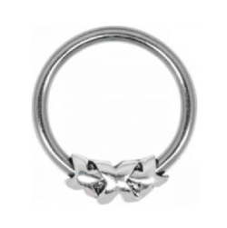 Steel Closure Ring - 05 Silver Triple X