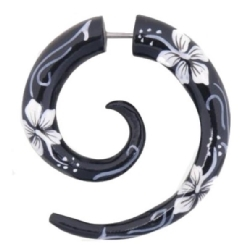 Fake Wood Flower Spiral White - I