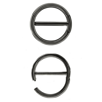 Steel Blackline® – Double Clicker Nipple Ring