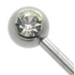 Steel Jewelled Side Threaded Ball