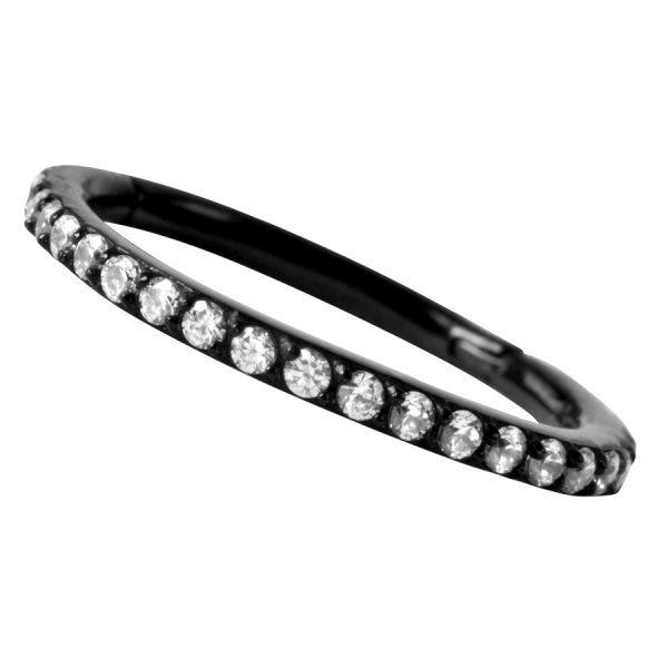 Steel Blackline® – Pave Setting Crystal Ring