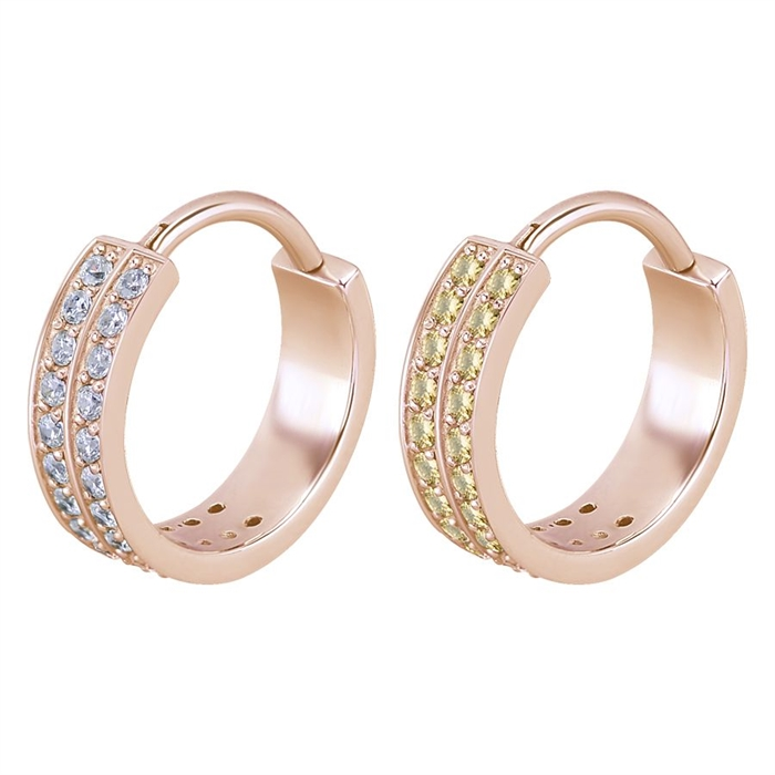 Steel Roseline® – Double Jewelled Hinged Conch Ring