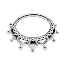 Steel Hinged Oriental Clicker for Septum/Daith
