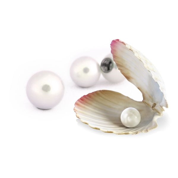 Threaded Real Freshwater Pearl
