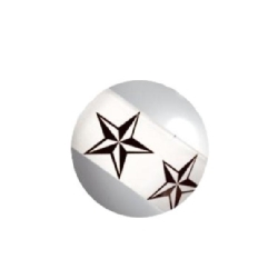 Titan Highline® Image Stripy Threaded Ball - 01 Nautical Star