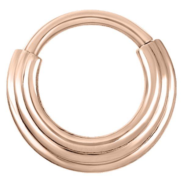 Steel Roseline Hinged Septum Concave Ring