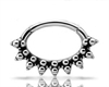 Steel Hinged Tribal Clicker w. granulation for Septum/Daith