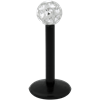 Bioplast® - Sealed Jewelled Labret -Black stem