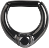 Steel Blackline® Single Jew. Hinged Septum Clicker