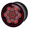 PMMA Flourish Mandala Plug (Black/Red)