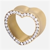 Steel Zirconline® Multi Jewelled Heart Tunnel