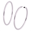 Steel Hollowed Hoops - Sold in pair