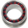 Steel Halo Flesh Tunnel - 16 Sun Red/Black 20mm