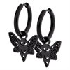 Steel Blackline® Little Butterfly Hoops - Sold in pair