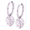 Steel Little Palm Leaf Hoops - Sold in pair