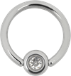 Titan Highline® MediRing with Jewelled Flatback Ball
