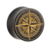 Organic®-Golden-Compass-on-Black-Wood