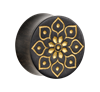 Organic®-Golden-Florescence-on-Black-Wood