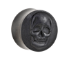 Organic®-Skull-on-Ebony-Wood