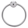 Steel Basicline® – Continuous Jewelled Ball Closure Ring