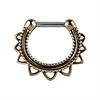 Brass Tribal Septum Clicker - 01