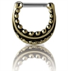 Brass Tribal Septum Clicker - 07