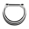 Steel Hinged Septum Triple Ring