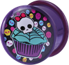 Single Flared Logo Plug 16 - Skull Cupcake