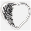 Steel Angel Heart Continuous Ring