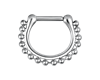Steel Hinged Septum Clicker Chain