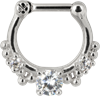 Steel Shining Septum Silver Clicker