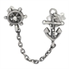 Steel Matt Ear Chain Anker Ear Stud