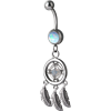 Steel Dreamcatcher Opal Navel Bananabell