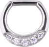 Steel Jewelled Hinged Septum Clicker
