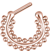 Steel Roseline® - Hinged Septum Clicker Double Chain