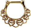 Steel-Zirconline---Floral-Septum-Gold