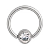 Titan Highline® Flat Back Jewelled Ball Closure Ring (For Smiley)