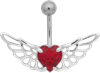 Titan Basicline® Navel Bananabell with Winged Crystal Heart