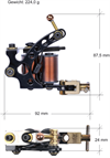 Workhouse Tattoo Machine, Supreme Black - Universal