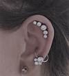 Titanium Jewelled Cluster Clip In - 4mm/3mm/2mm
