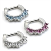Steel Jewelled Hinged Septum Ring