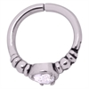 Steel Basicline® – Hinged Teardrop Clicker Ring