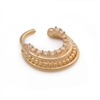 Steel/Brass Gold Plated Hinged Jewelled Decadence Septum Clicker